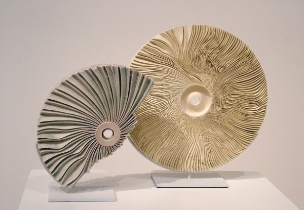 Marc Leuthold | US/NIPPON DYAD | glazed and unglazed porcelain, two pieces | 2004