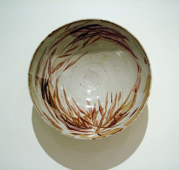Bill Hunt  | FALL GRASSES IN WIND | stoneware with underglaze and overglaze enamels | 2005