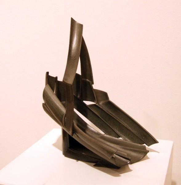 Ellen E. Day | CRADLE JOURNEY II | stoneware clay | 1999