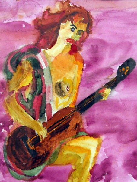 Second Place | John Tehan | GUITAR WOMAN | watercolor