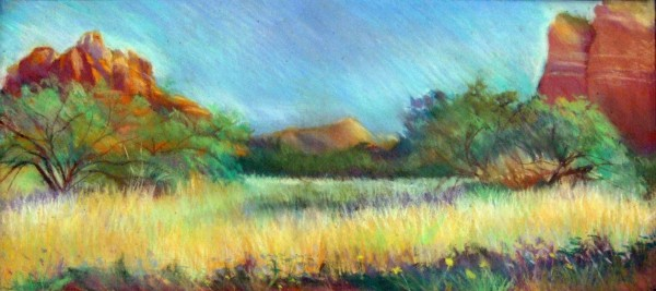 Michele Hamsher | A VIEW FROM SEDONA, ARIZONA | pastel