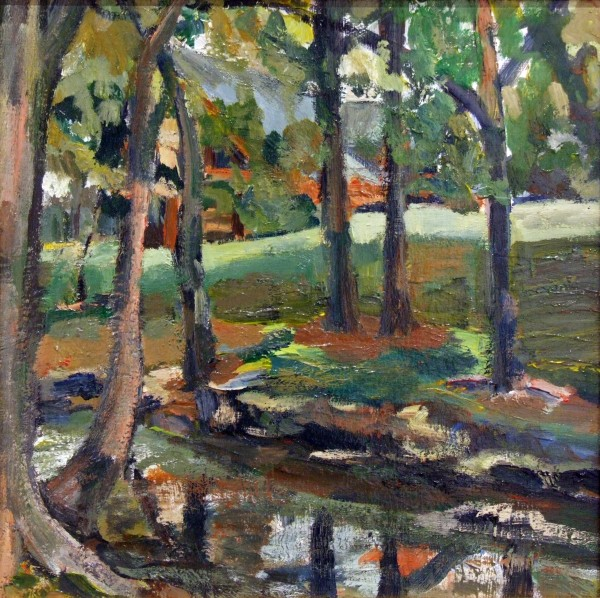 Second Place | Evelyn J. Mahrt | BY THE CREEK #1 | acrylic