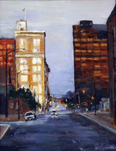 Third Place | LaDonna Lowe | EVENING IN THE CITY | acrylic