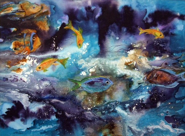 Second Place | Linnae Wilson | IN THE DEPTHS | watercolor