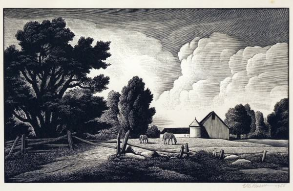 2005.005.66 | Thomas W. Nason | LITTLE FARM | wood engraving | 5-1/2 x 9"