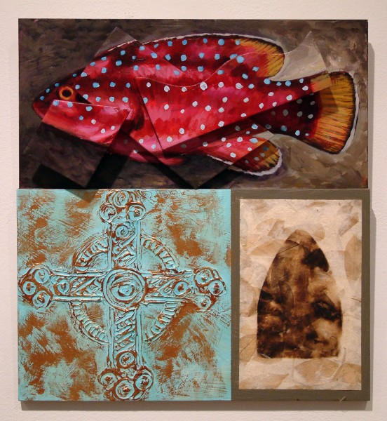 Brian Joiner | RED GROUPER (UNDERWATER STUDY) | mixed media