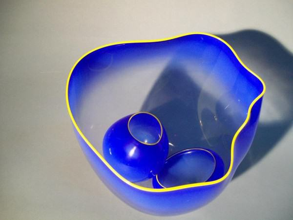 2012.007 | Dale Chihuly | BLUE BASKETS | glass | 9.25 x 9.5 x 8.75"