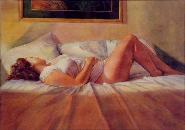 Dan Knepper | BROOKLYN BED | transparent watercolor | 2013