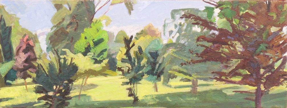 "Deborah Chlebek | ELLIS 116 | Oil on canvas | 18 x 48"" | 2015"