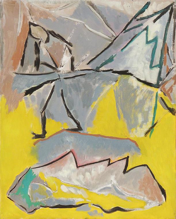"Deborah Rosenthal   WINTER JOURNEY II   Oil on linen   25 x 20""   2010"