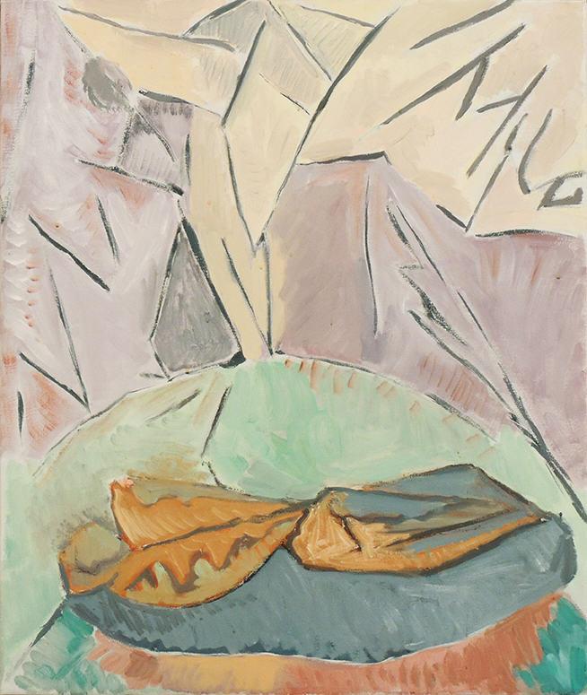 """Deborah Rosenthal   WINTER JOURNEY   Oil on linen   30 x 24""""   2010"""
