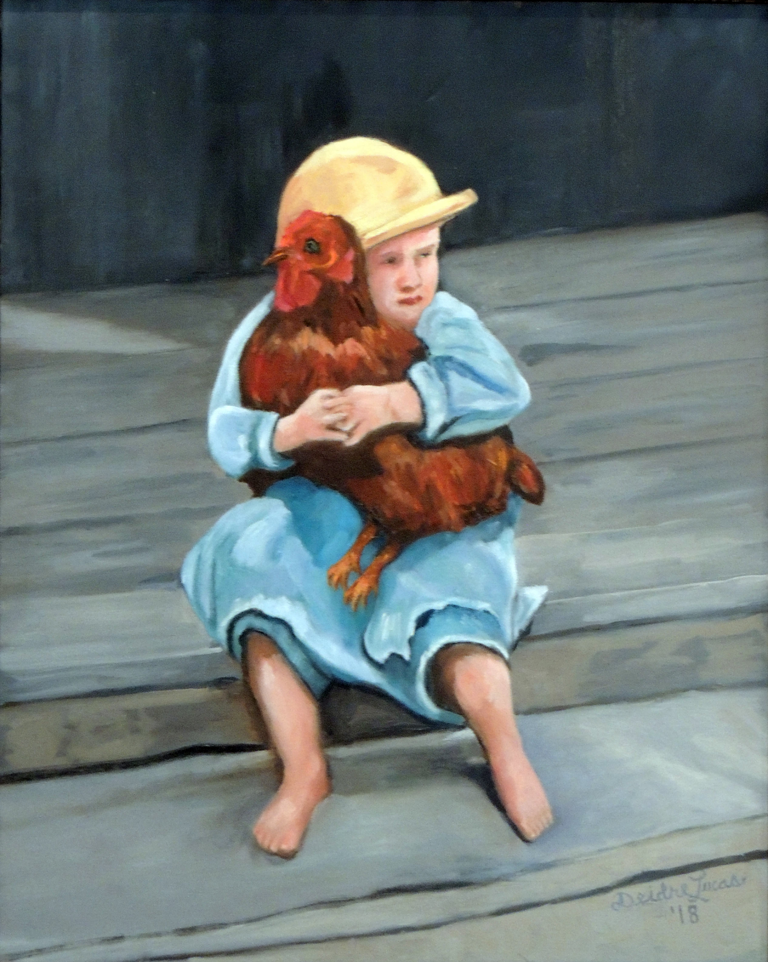 Deidre Lucas | HIS ONLY TOY | Oil on canvas