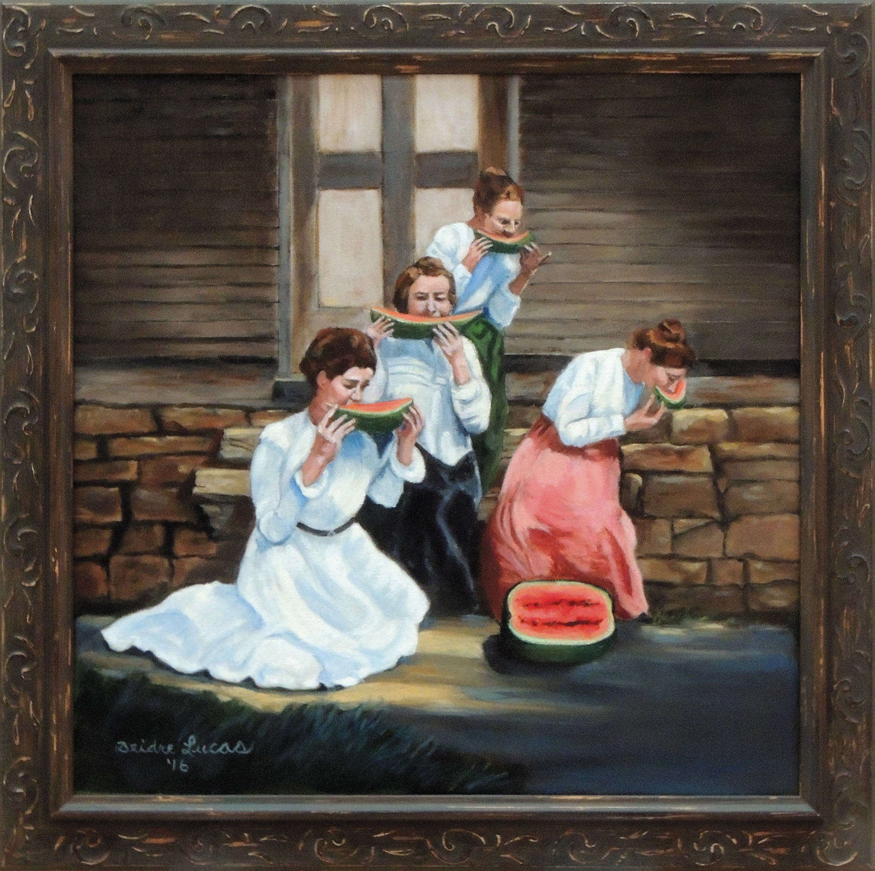 Deidre Lucas | WATERMELON LADIES | oil on canvas | Third Place