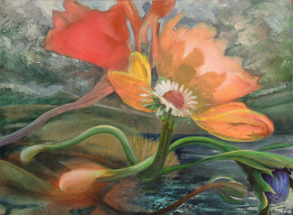 """Donald Beal Beal   NIGHT BLOOMS   Oil on panel   22 1/2 x 29 3/4"""""""