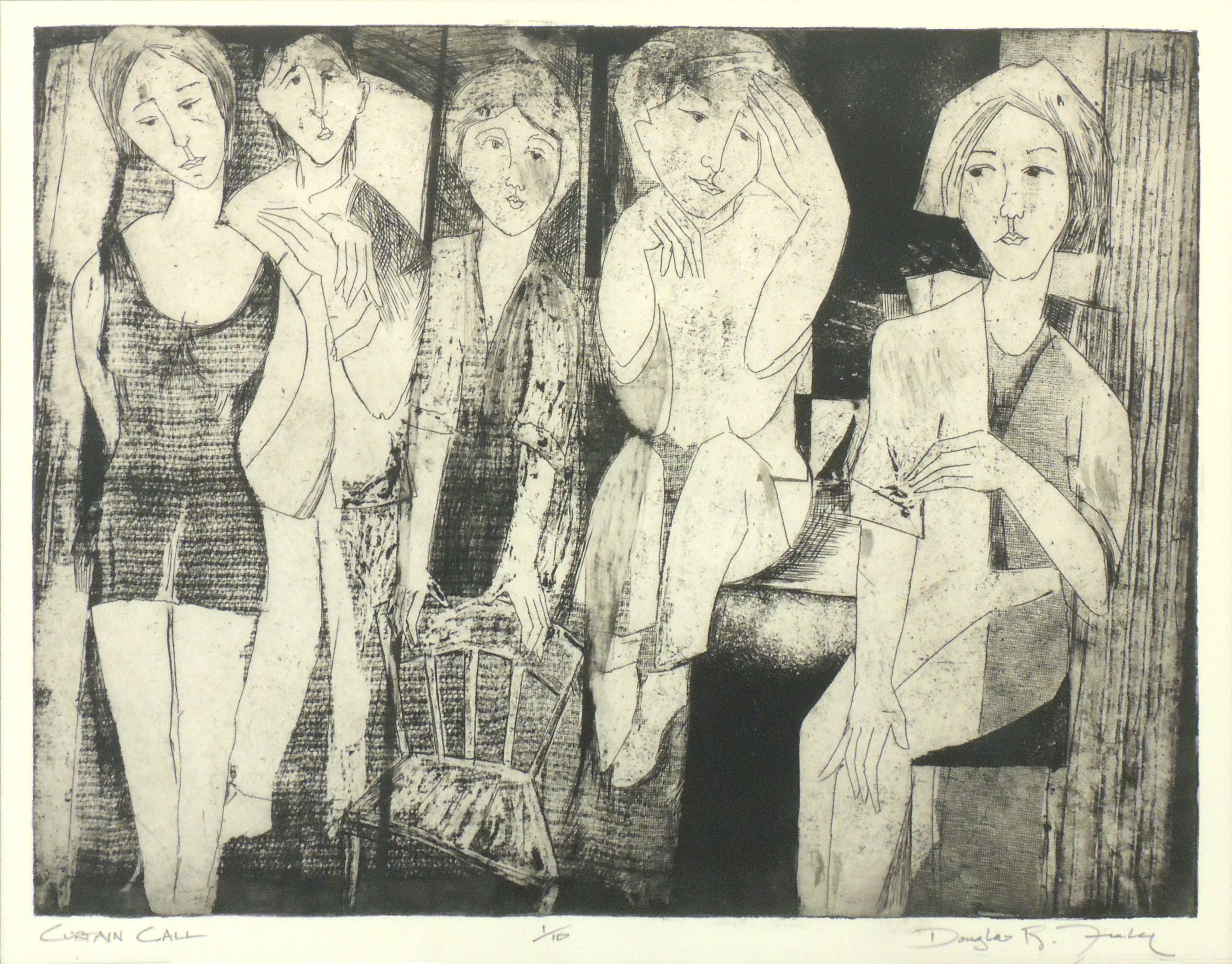 Douglas R. Fiely | CURTAIN CALL | Intaglio print