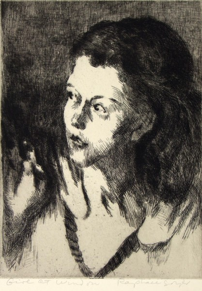 Raphael Soyer | GIRL AT WINDOW
