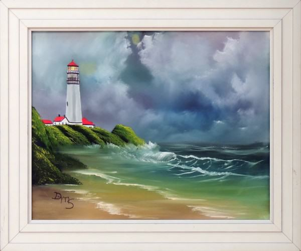 Dyna Shaffer | LIGHTHOUSE BY THE SEA | oil