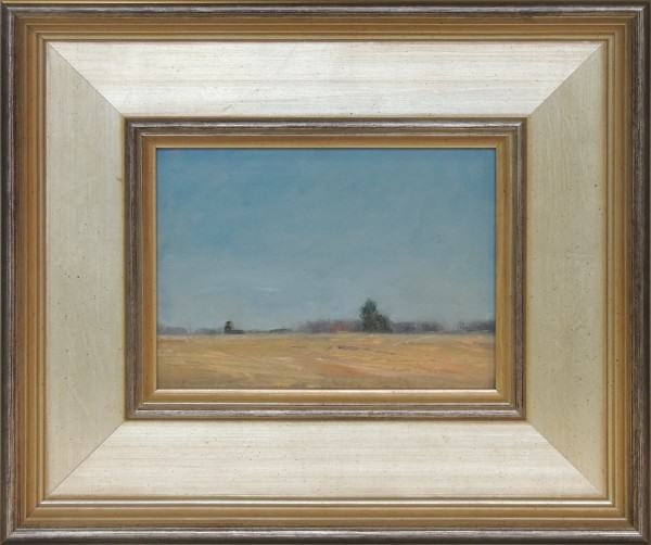 Edie Dean | DARBY PLAINS WET PRAIRIE LATE FALL | oil on paper | 6 x 8""