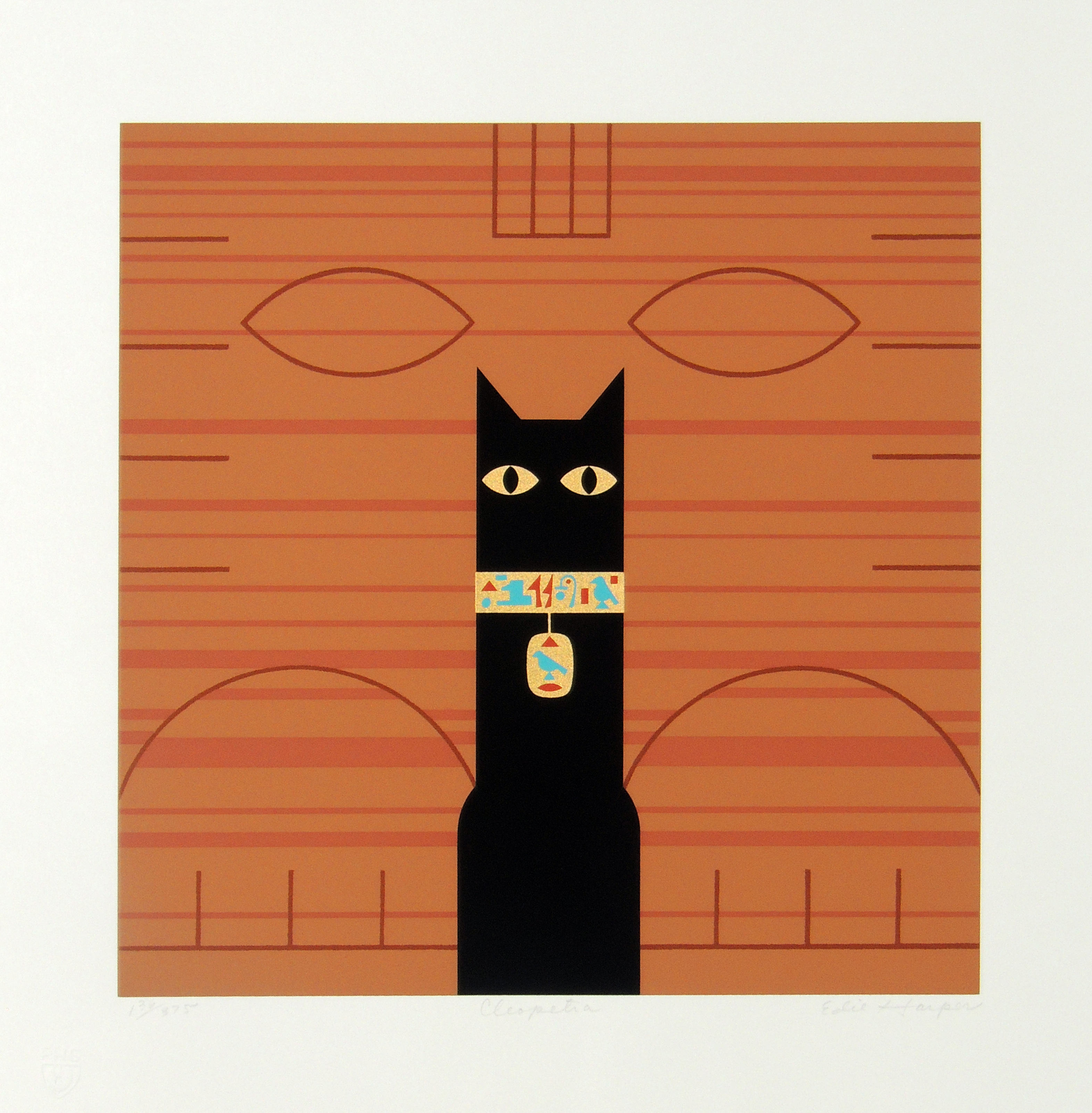Edie Harper | CLEOPETRA | serigraph on paper | 12 x 12