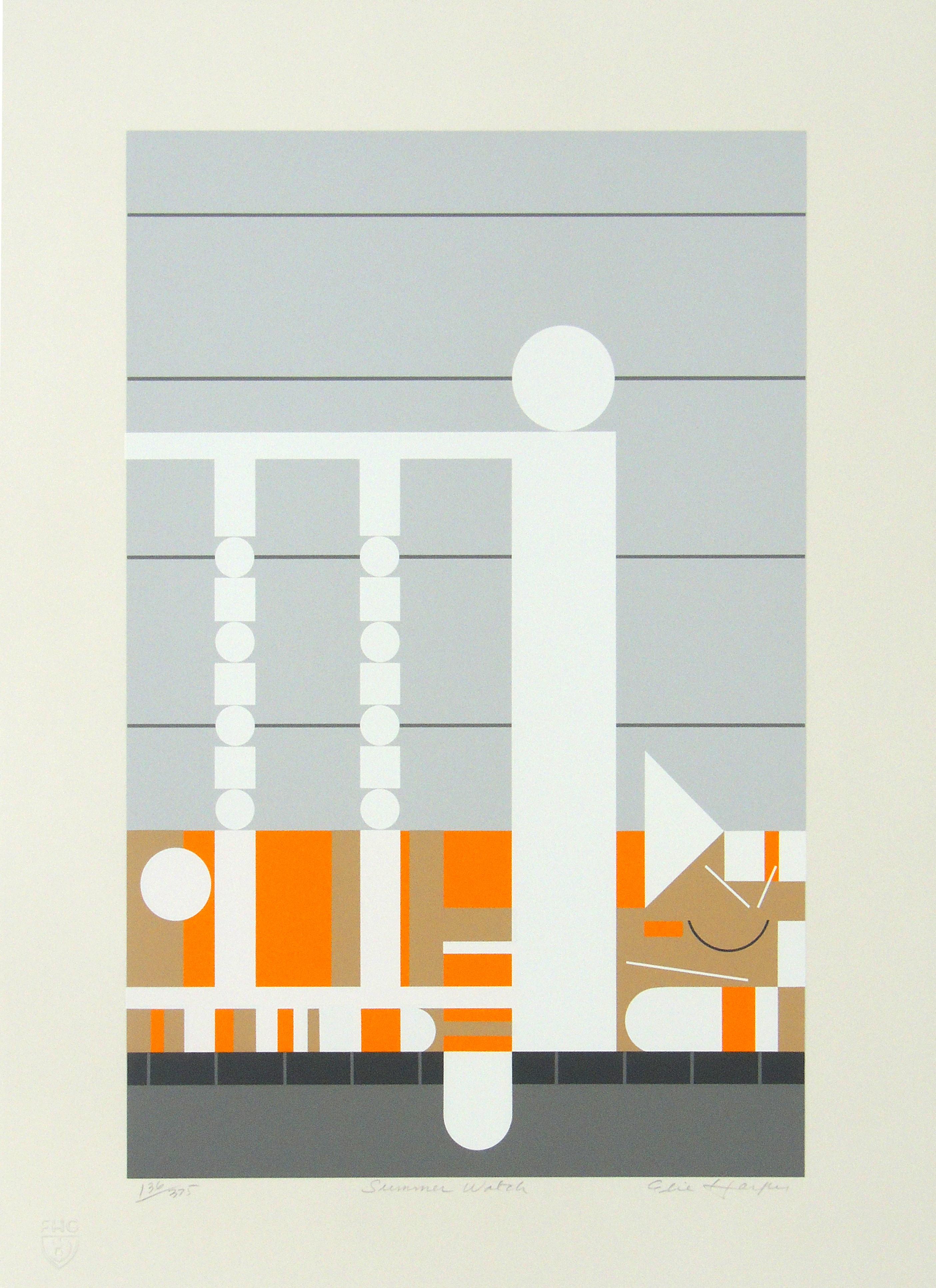 Edie Harper | SUMMER WATCH | serigraph on paper | 15 x 10
