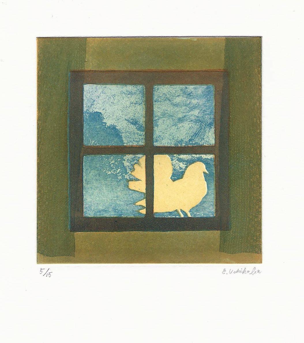 Eiko Uchikoba | MESSAGE FROM THE SUN | etching, softground | 4x4 | 2016