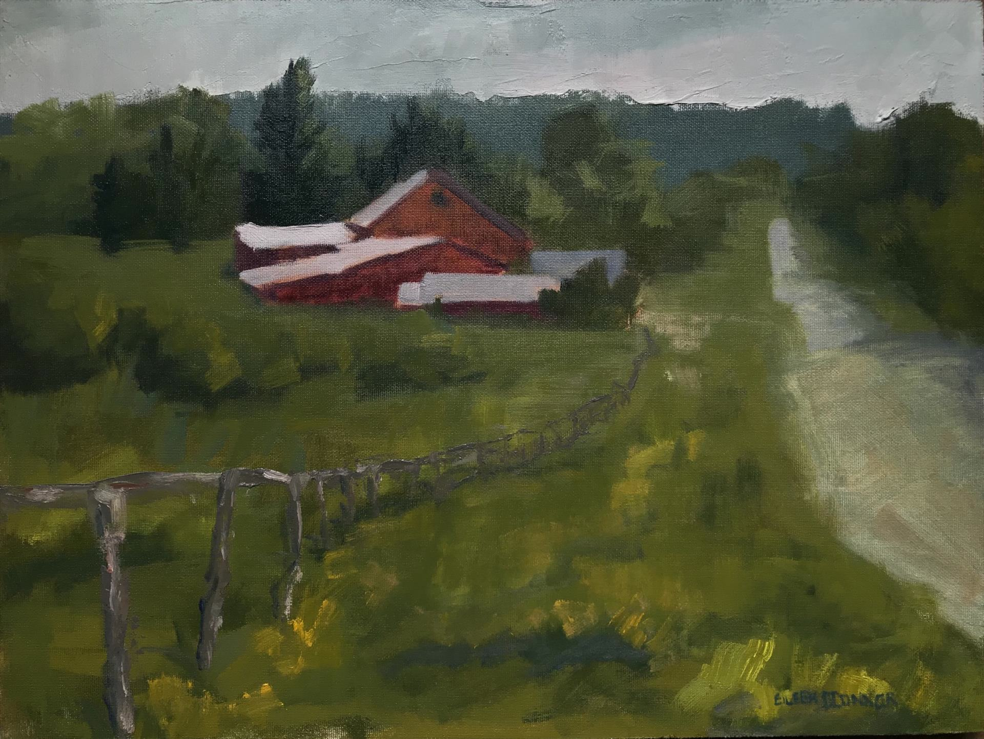 Eileen O'Connor | WAITING FOR TURNOUT | oil | 12 x 16