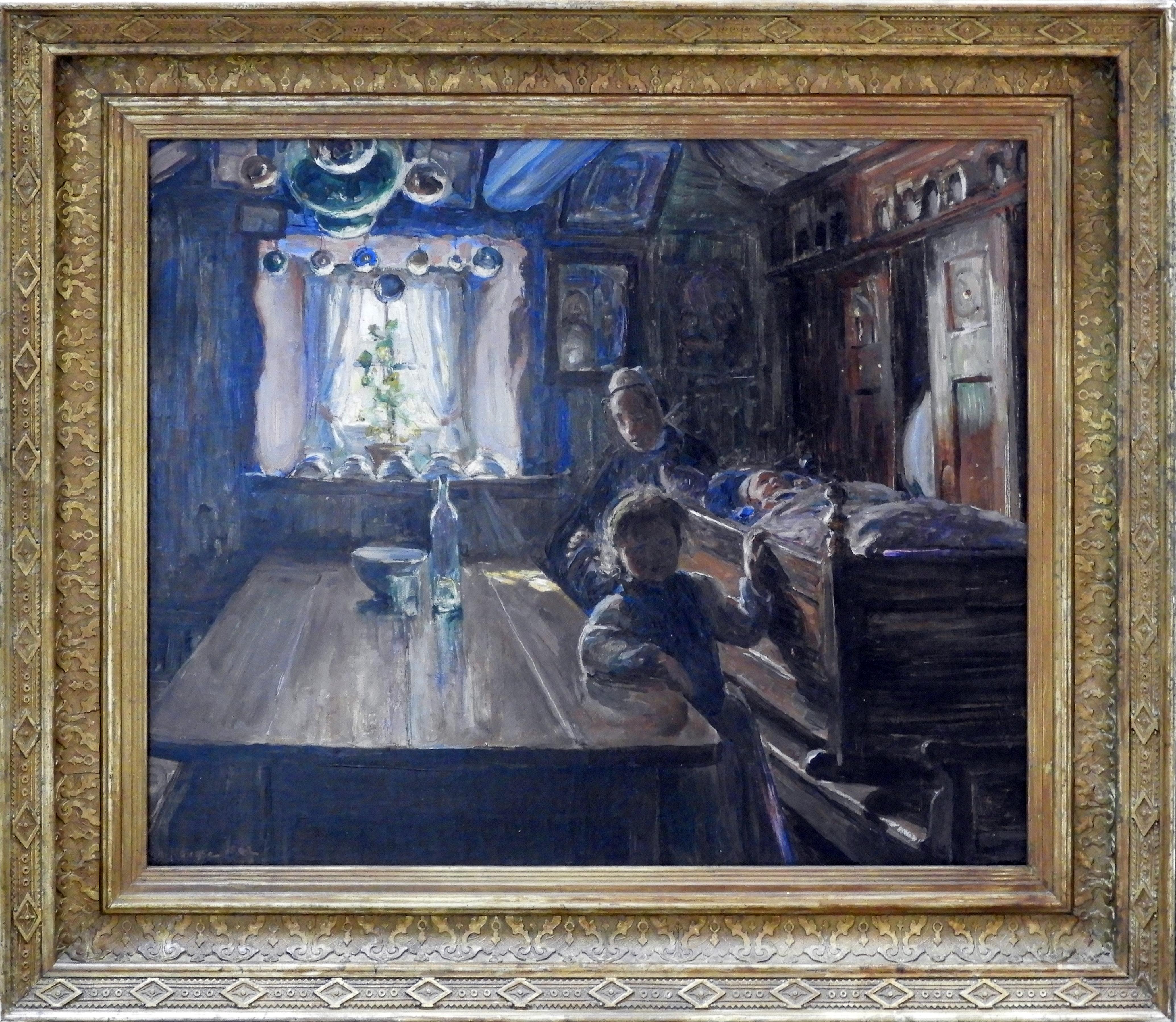 Elizabeth Nourse | INTERIEUR BRETON A PENMARCH | oil on canvas |