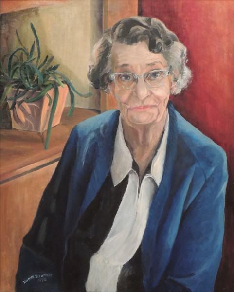 Eunice Bronkar | BESSIE (GOBBEL) HYPES (1890-1976) | oil | 1972