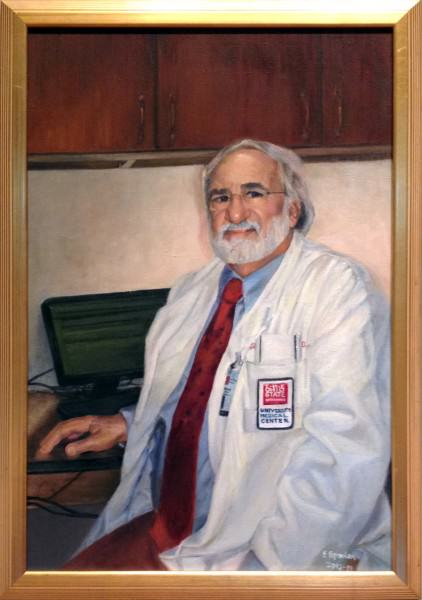 Eunice Bronkar | DR. FREDERICK DAVIDORF, M.D. | oil on canvas | 2012-13