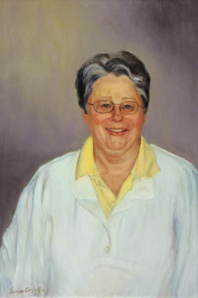Eunice Bronkar | DR. JUDITH O'CONNELL, D.O. | oil on canvas | 2010