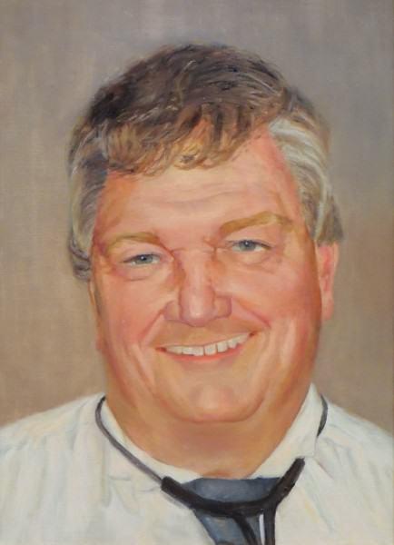 Eunice Bronkar | DR. KEVIN MICHAEL REID, D.O. | oil on canvas | 2008