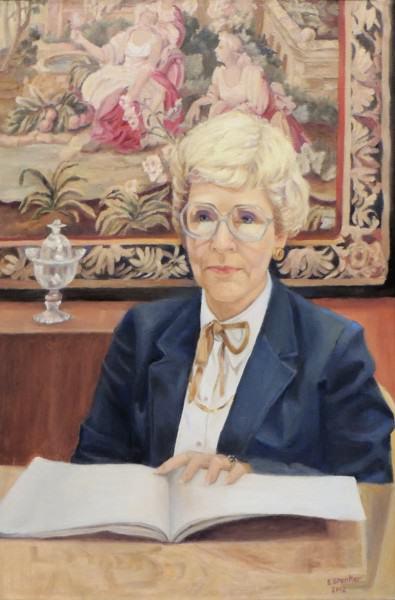 Eunice Bronkar | MS. PAT CATRON, DIRECTOR EMERITA, SPRINGFIELD MUSEUM OF ART | oil on canvas | 2012
