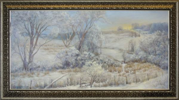 Eunice Bronkar | MORE FREEZING TEMPERATURES, WINTER | oil | 24 x 48""