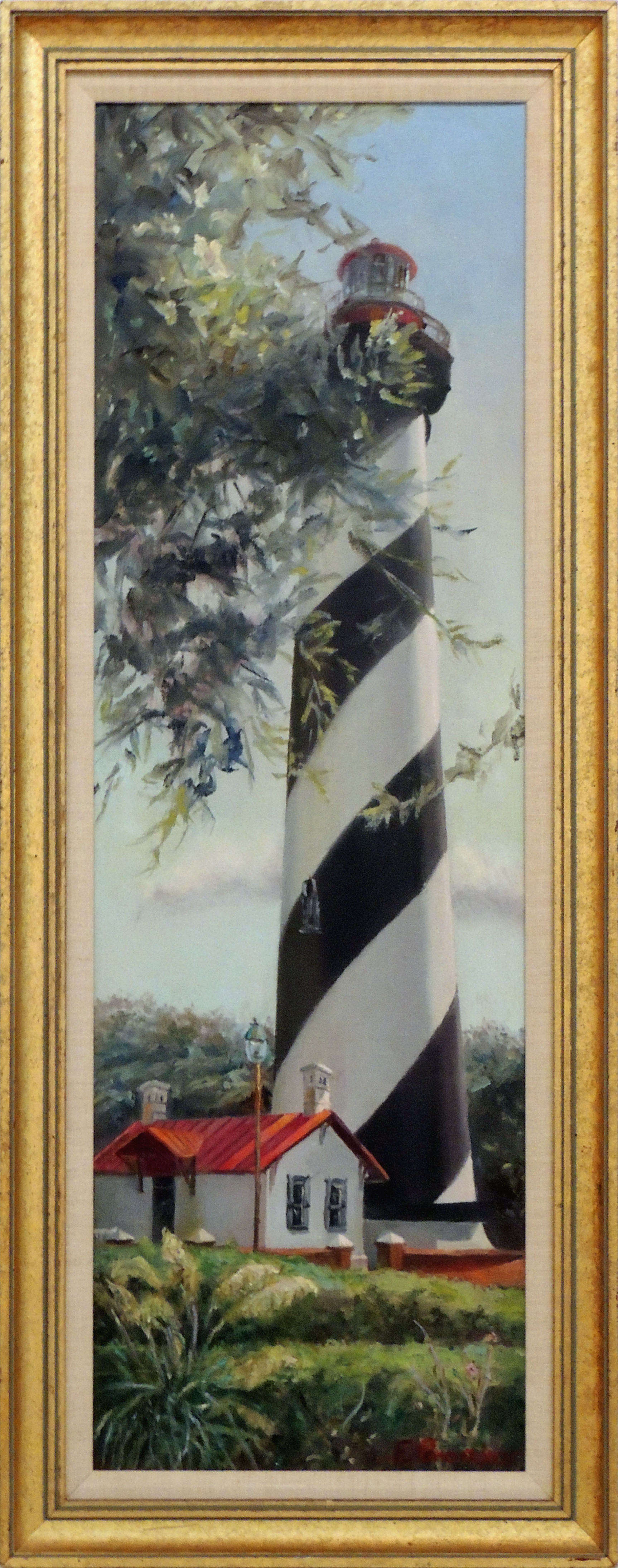 Eunice Bronkar | ST. AUG. LIGHTHOUSE | oil