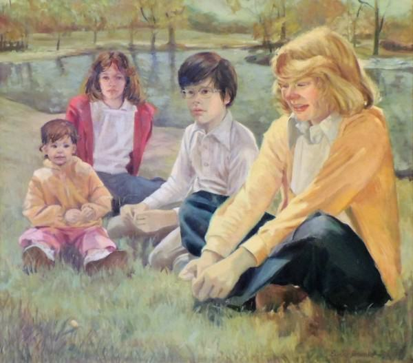 Eunice Bronkar | THE RICHARD AND PAT BROWN CHILDREN | oil on canvas | 1977