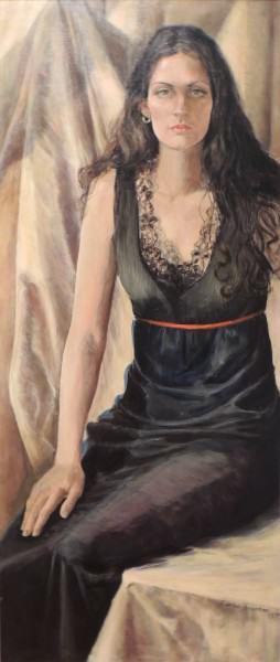 Eunice Bronkar | VALERIE CATRON | acrylic on canvas | 1974