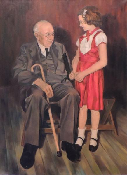 EuniceBronkar | A.B. GRAHAM AND GRANDDAUGHTER | oil on canvas | 1976