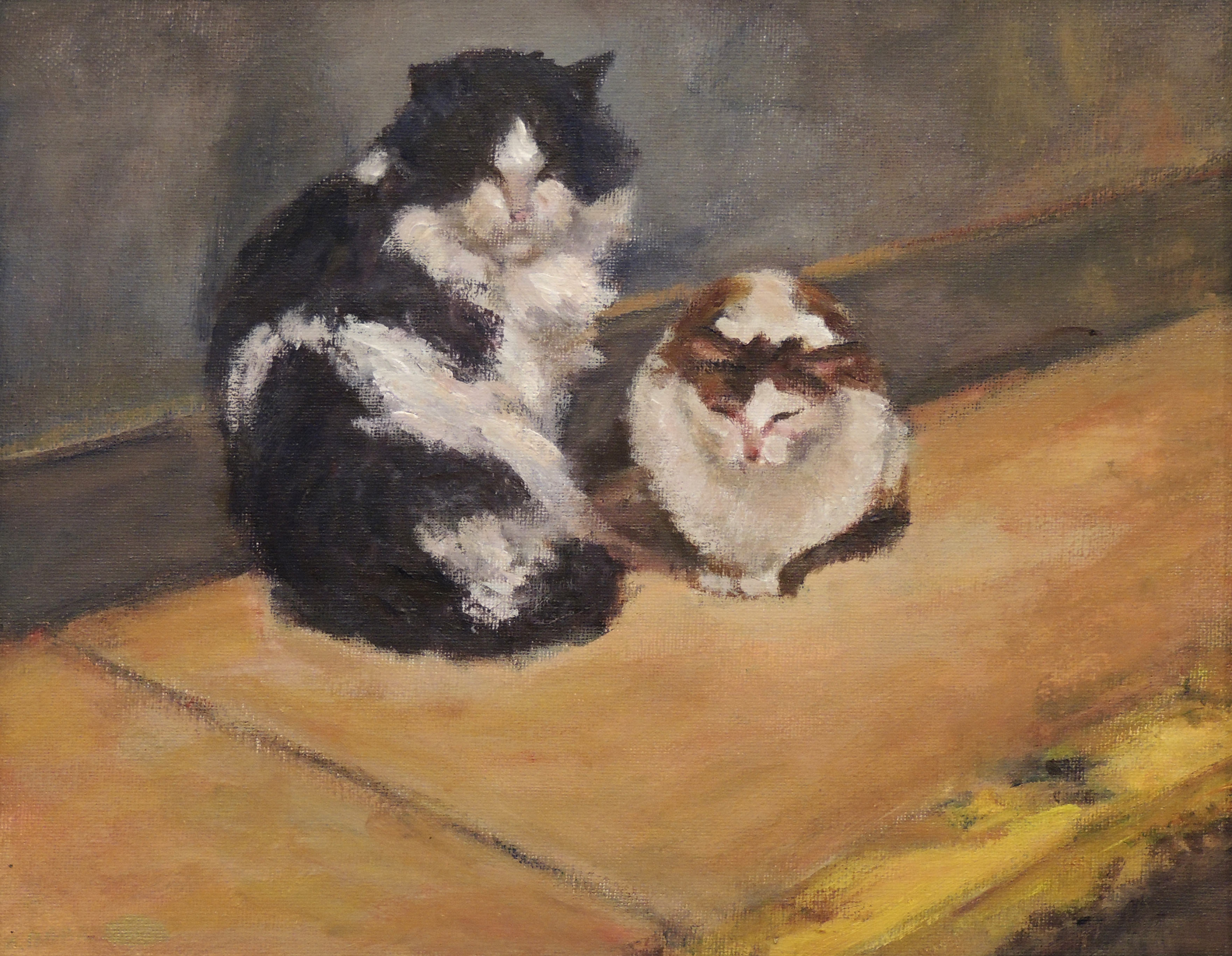 Evelyn J. Mahrt | JACKSON CENTER CATS | Acrylic