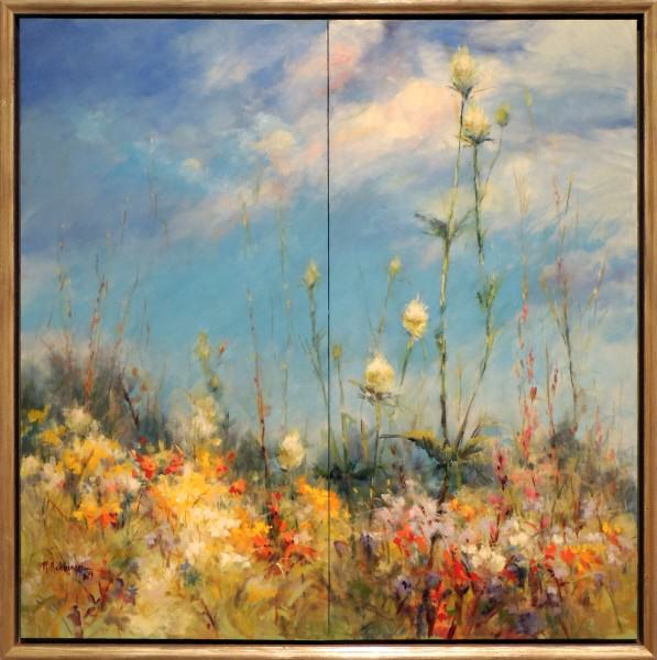 """First Place   Nancy Achberger   REACH FOR THE SKY   oil   36 x 36"""""""