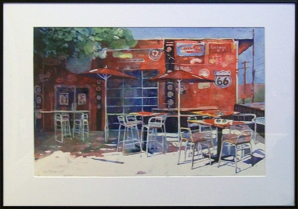 Fran Mangino | GARAGE BAR, SHORT NORTH | transparent watercolor | Honorable Mention