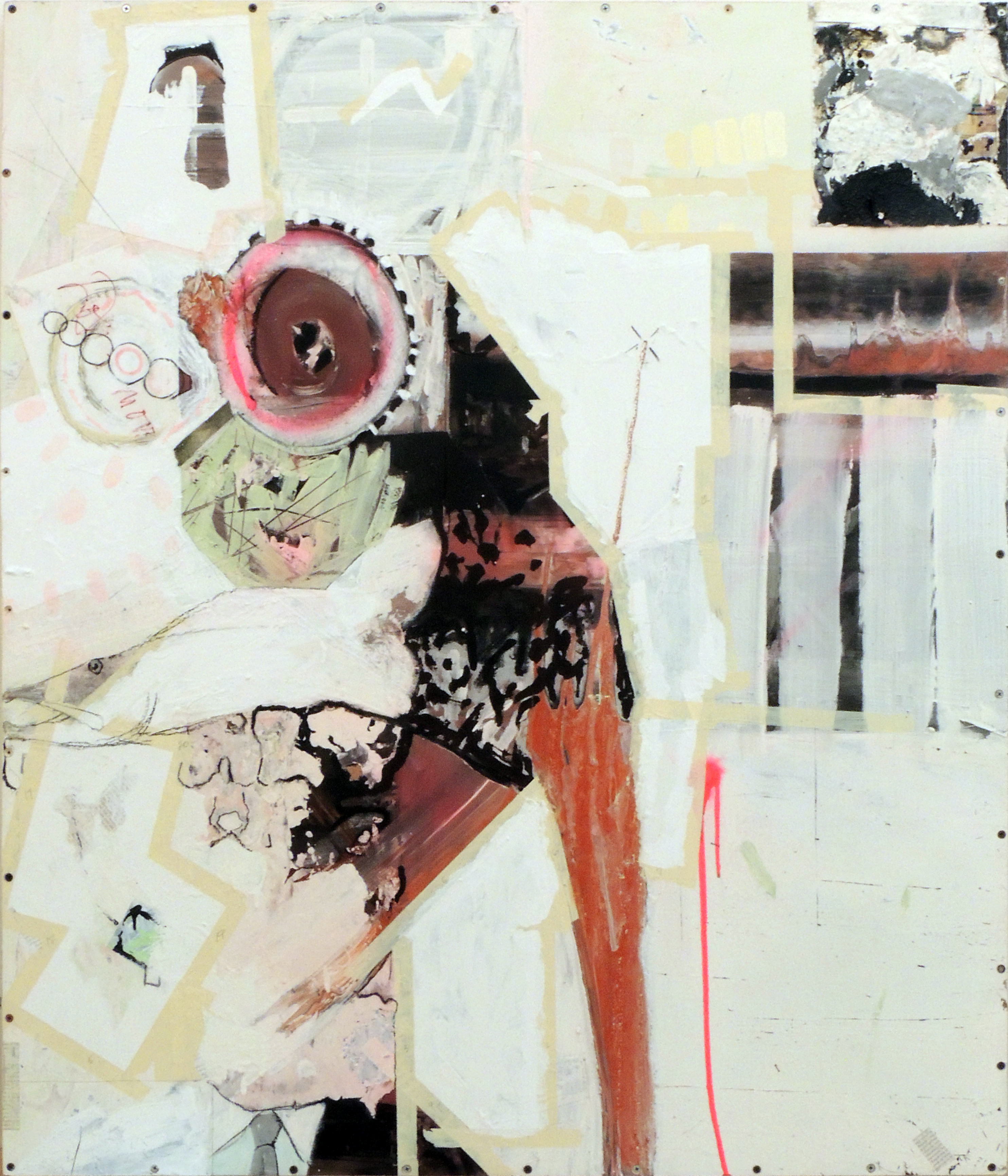 Gary Birch | DON'T MOVE | Oil and acrylic, collage on panel