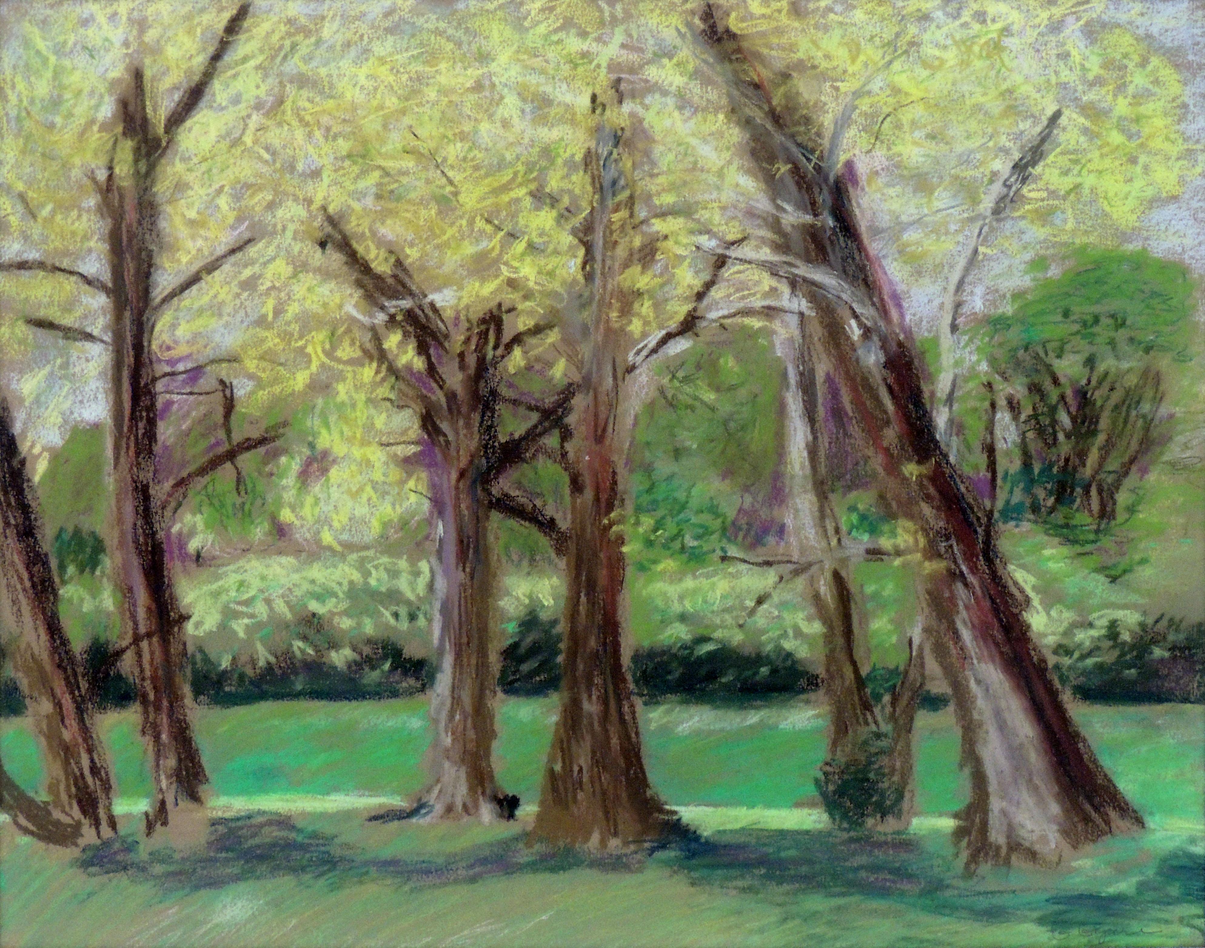 Gayle Gyure | SPRING TREES | Pastel