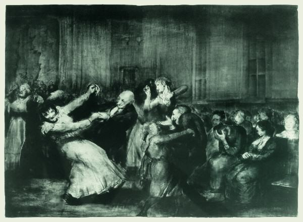 George Bellows | 1882-1925 | DANCE IN A MADHOUSE | lithograph | 18-1/2 x 24-1/8 "
