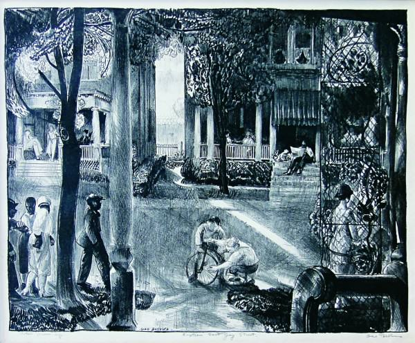 George Bellows | SIXTEEN EAST GAY STREET | 1923-1924 | lithograph | 19-1/4 x 11-3/4"