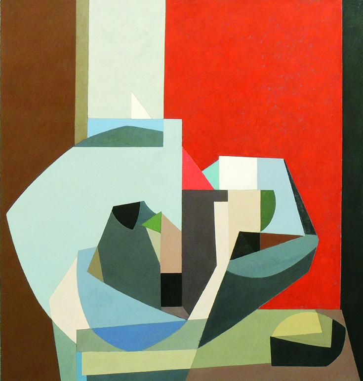 "Glen Cebulash   FOR K.K. II   oil on canvas   72 x 66""   2018"