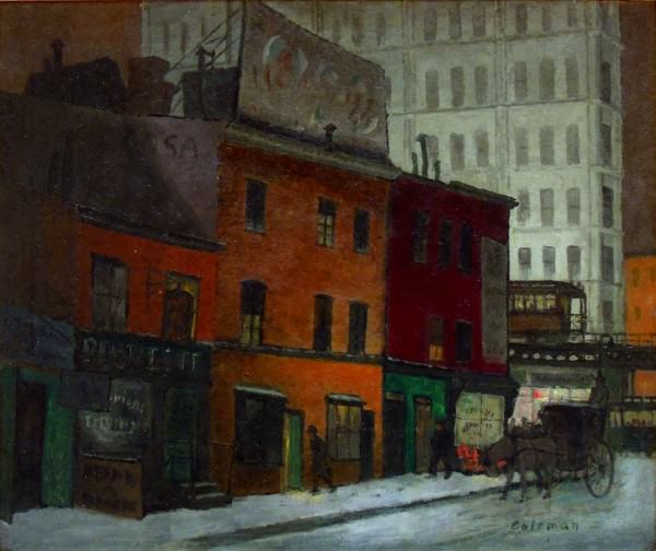 Glenn O. Coleman | GREENWICH VILLAGE | 1927 | oil on canvas | 25 x 30"