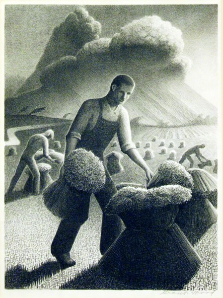 Grant Wood   APPROACHING STORM   n.d.
