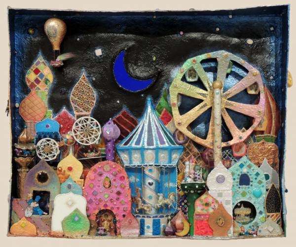 Honorable Mention | Sharri PaulaPhillips | DREAMSCAPE #1 | multi-media-cardboard, paper mache, paintHonorable Mention | Sharri PaulaPhillips | DREAMSCAPE #1 | multi-media-cardboard, papier maché, paint