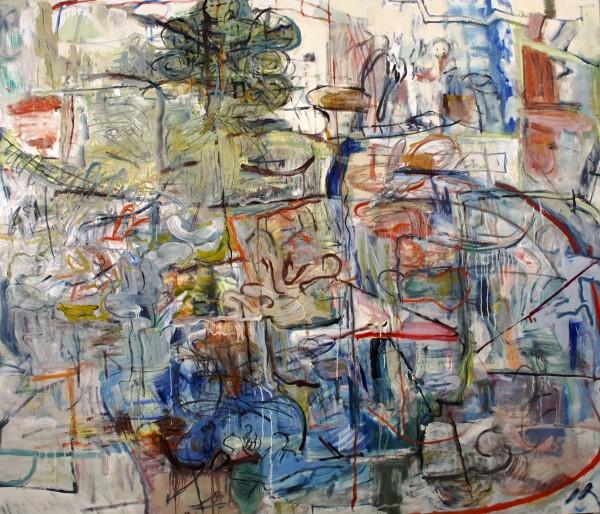 "Alan Crockett   HULLY GULLY   60 X 68""   oil on canvas   2013"