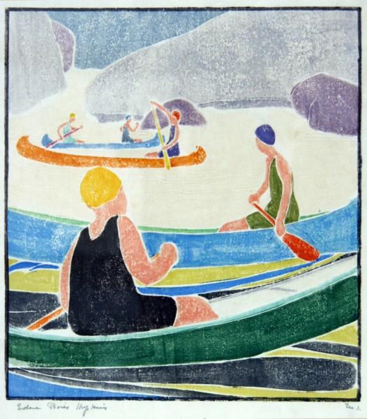 Edna Boies Hopkins | woodblack print